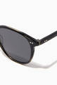 thumbnail of Basalt Hampton 46 Acetate Round-Frame Sunglasses   #2