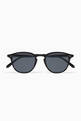 thumbnail of Basalt Hampton 46 Acetate Round-Frame Sunglasses   #0