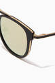 thumbnail of Matte Black & Gold Van Buren Combo 46 Folding Sunglasses #2