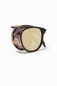 thumbnail of Matte Black & Gold Van Buren Combo 46 Folding Sunglasses #4