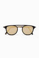 thumbnail of Matte Black & Gold Van Buren Combo 46 Folding Sunglasses #0