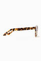 thumbnail of Camo Round Half-Bar Acetate Sunglasses  #3