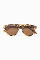 thumbnail of Camo Round Half-Bar Acetate Sunglasses  #0