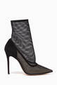 thumbnail of Black Point-Toe Mesh Booties #0