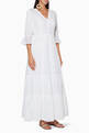 thumbnail of White Embroidered Bella Maxi Dress  #0