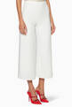 thumbnail of White Cropped Culotte Pants #0