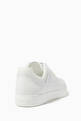 thumbnail of White FF Logo Low-Top Leather Sneakers   #2