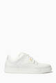 thumbnail of White FF Logo Low-Top Leather Sneakers   #0