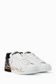 thumbnail of White & Black Portofino Signature Sneakers #4