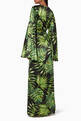 thumbnail of Green Palm Print Liliana Silk Dress   #2