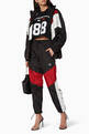 thumbnail of Black, Red & White Tonal Crest Windbreaker Pants  #1
