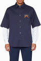 thumbnail of Navy Logo Appliqué Shirt  #0