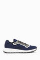 thumbnail of Navy Match Race Panelled Sneakers  #0