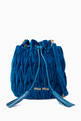 thumbnail of Blue Velvet Small Matelassé Bucket Bag #0