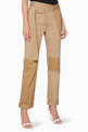 thumbnail of Beige Patchwork Straight-Leg Cargo Pants   #0