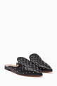 thumbnail of Black Quilted Rockstud Spike Mules #0