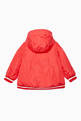 thumbnail of Coral-Orange Quilted Jacket         #1