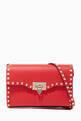 thumbnail of Rockstud Leather Cross-Body Bag #0