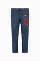 thumbnail of Blue Rose Embroidered Patchwork Denim Jeans      #2