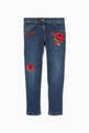 thumbnail of Blue Rose Embroidered Patchwork Denim Jeans      #0