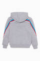 thumbnail of Grey Sleeve Striped Logo Hoodie  #2