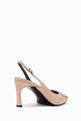 thumbnail of Pastel-Pink Patent Trompette Slingback Heels  #2