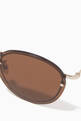 thumbnail of Gold & Brown Joyce Rimless Sunglasses #2
