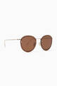 thumbnail of Gold & Brown Joyce Rimless Sunglasses #3