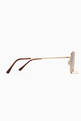 thumbnail of Matte Gold & Brown Gradient Caligola Sunglasses #1