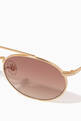 thumbnail of Matte Gold & Brown Gradient Caligola Sunglasses #2