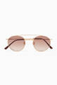 thumbnail of Matte Gold & Brown Gradient Caligola Sunglasses #0