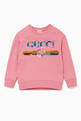 thumbnail of Pink Sequined Logo Sweatshirt  #0