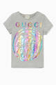thumbnail of Grey Metallic Rainbow Tiger Logo T-Shirt  #0