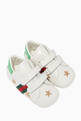 thumbnail of White Metallic Embroidery Sneakers #0