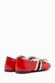 thumbnail of Ballet Flats with Gucci Stripe in Patent Leather    #2