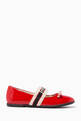 thumbnail of Ballet Flats with Gucci Stripe in Patent Leather    #1