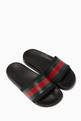 thumbnail of Black Striped Band Rubber Slides #0