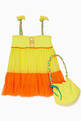 thumbnail of Yellow Embroidered Beach Dress #1