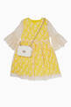 thumbnail of Yellow Floral Embroidered Lace Dress #1