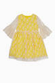 thumbnail of Yellow Floral Embroidered Lace Dress #0
