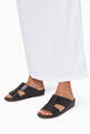 thumbnail of Black Calfskin Cinghia Sandals      #1
