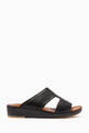 thumbnail of Black Calfskin Cinghia Sandals      #0
