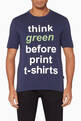 thumbnail of Slogan Print T-Shirt  #0