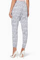 thumbnail of Grey All-Over Shoelace Logo Print Pants  #2