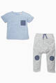 thumbnail of Contrast-Detail T-Shirt & Pants Set #3