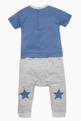 thumbnail of Striped Star-Patch T-Shirt & Pants Set  #2