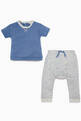 thumbnail of Striped Star-Patch T-Shirt & Pants Set  #0