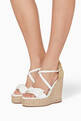 thumbnail of Bonnie Bow Leather Espadrille Wedge Sandals #1