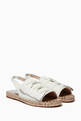 thumbnail of Bonnie Bow Leather Slingback Espadrille Sandals #4