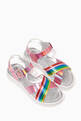 thumbnail of Criss-Cross Straps Rainbow Sandals         #1
